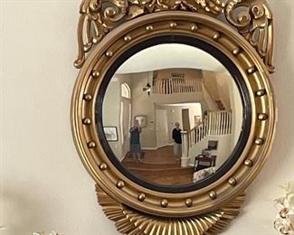 This beautiful Federal Gold Gilt convex mirror is $5,300