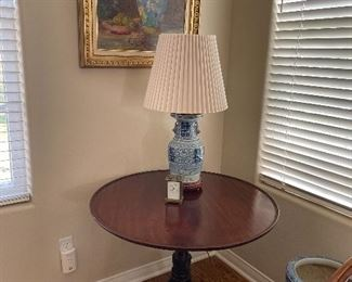 """This converted """"Ginger Jar lamp"""" was purchased over 40 years ago from a Beverly Hills antique dealer... We are asking $375.00 each - there are two."""