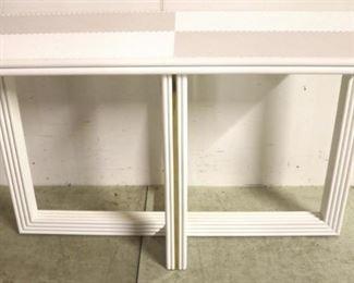 38 - Modern History brass inlaid white sofa table 33 x 54 x 20