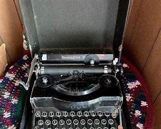 Remington typewriter in case!