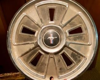 1968 or 69 Mustang hubcaps!