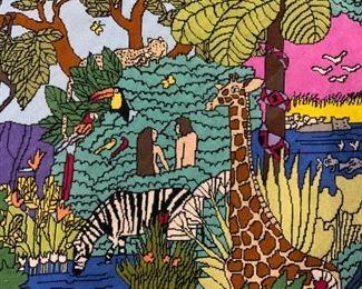 Needlepoint Garden of Eden Tapestry