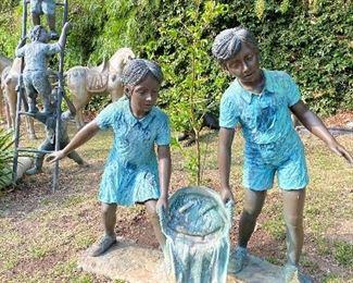 Kids bronze Statues