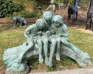 Huge Three kids sculpture