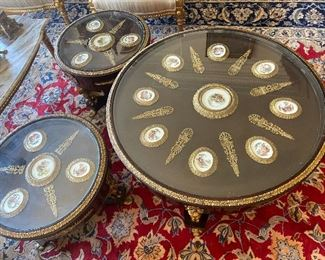 French coffee tables and say tables