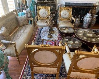 French  living room set brand new