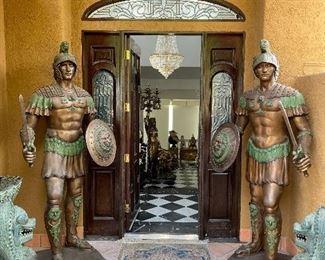 Warriors Bronze Sculptures
