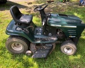 Craftsman riding mower, new battery, runs & cuts! $350