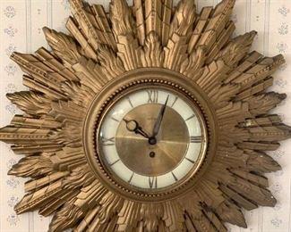MCM Welby Sunburst Clock