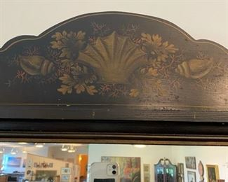 One of Two Matching Painted Mirrors