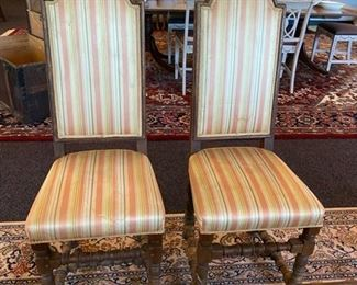 Two of Four Antique Side Chairs