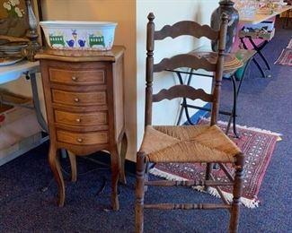 Four Drawer Chest - Ladderback Chair