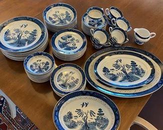 Double Phoenix Blue & White Plates