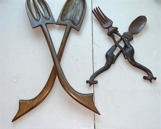 Carved Wood Implements