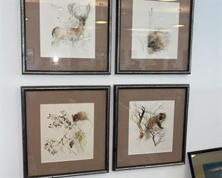 set of Four Watercolors