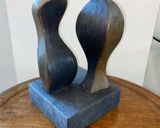 Bronze & Stone Abstract Sculpture