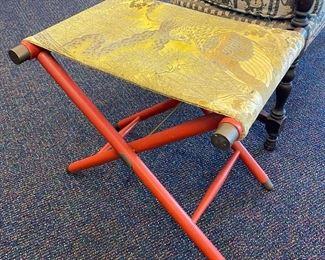 Vintage Folding Stool/Luggage Stand