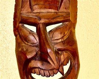 Wooden Hanging Mask