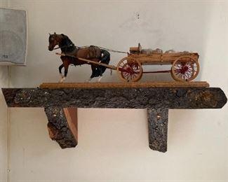 ADIRONDACK SHELF TOY HORSE + WAGON