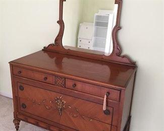 Antique dresser with detached mirror