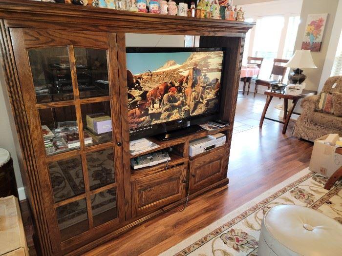 Entertainment Cabinet and Vizio TV