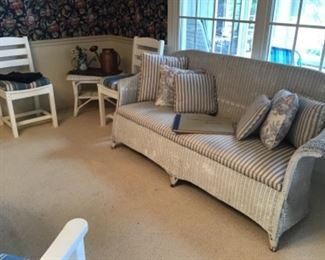 Very old wicker sofa
