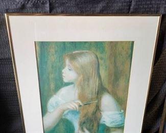 Art Girl with Hair