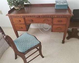 Very nice antique secretary desk, in excellent condition. Chair sold separately