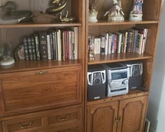 two nice book cases or other cabinet