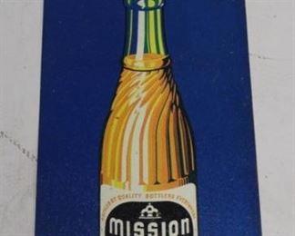 1 - Mission Orange Soda Metal Sign 25 x 8 1/2