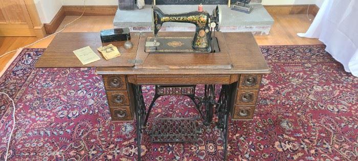 Antique Singer Sewing Machine No. LXVI