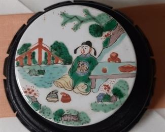 Chinese Famille Verte Covered Box