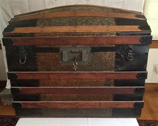 Late 19th Century Antique Travel Trunk