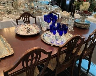 Dining table; incredible accessories throughout!