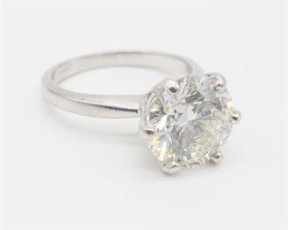 3.86ct Diamond solitaire GIA Cert