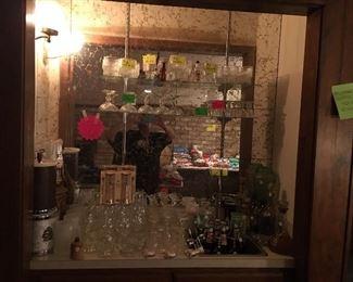 Beautiful wet bar set up