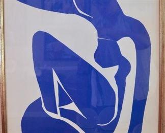 Henri Matisse,  Blue Nude 1, 1952, lithograph
