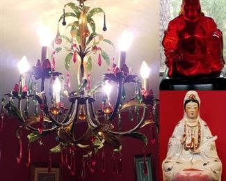 chandelier, Cherry Amber Buddha