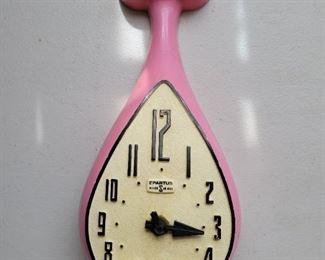 1950s Spartus Pink Cat Clock