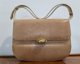 Gucci Tan/Pink Leather With Gold Gucci Worded Twist Clasp
