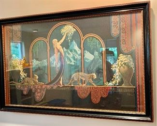 Framed Art Nouveau print by Fred Packer