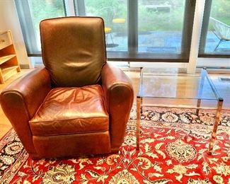 Room and Board leather recliner