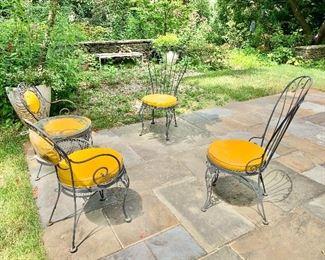 Vintage wrought iron garden seating