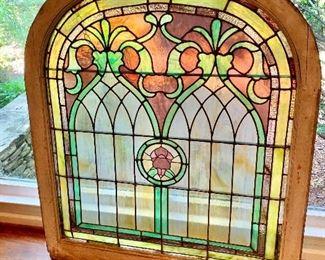 Vintage art nouveau stained glass