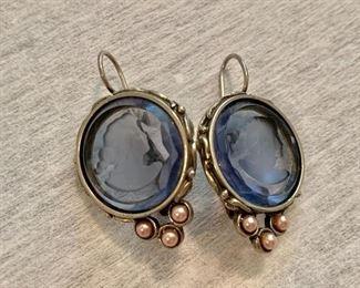 Intaglio earrings