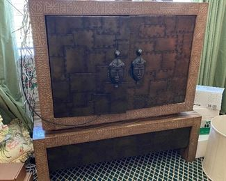 Lacquer TV cabinet, high style $180