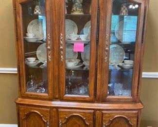 """Vintage Drexel China Cabinet with Silverware Drawer Excellent condition!  Does not come apart. Measures: 58"""" across x 15"""" deep x 80"""" tall Must be able to move and load yourself"""