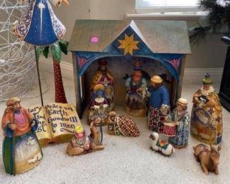 "Heartwood Creek ""Jim Shore"" Manger Christmas Scene 13pcs Excellent condition!  Pickup in 77084"