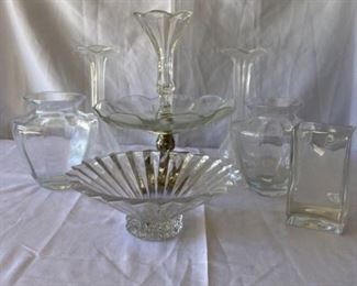 Crystal, Glass and an Amazing Centerpiece