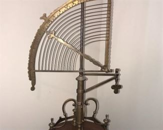 Decorative Wood and Brass Sextant